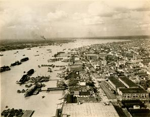 VIEW OF THE RIVER HOOGLY , CALCUTTA EAST BANK