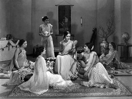 "Devika Rani and others in the Bombay Talkies classic ""JawaniKi Hawa"" 1935"