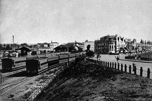 VIEW OF BOMBAY AS SEEN AROUND 1900 - COLABA STATION