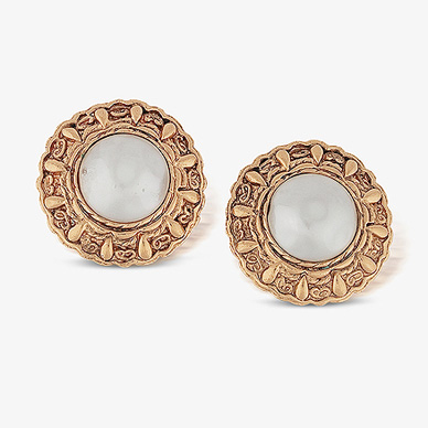 Vintage Chanel Pearl Studs