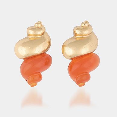Vintage Christian Dior Shell Earrings