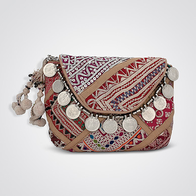 Handcrafted Patchwork & Embroidered Clutch Bag