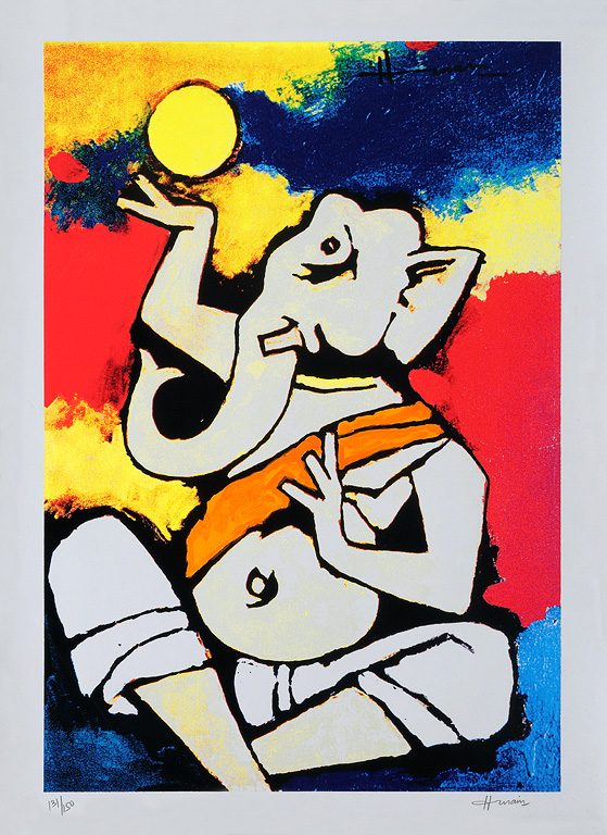M F Husain - Theorema: Sikhism @ Limited Editions