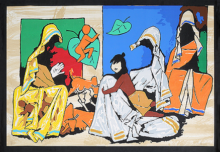 M F Husain - Untitled @ Limited Editions Serigraphs by M F