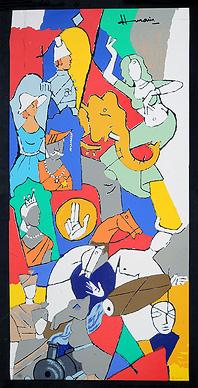 Krishna Leela by M.F.Husain Signed limited edition