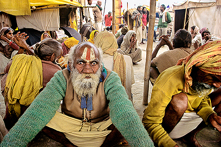Sadhus at Mahakumbh
