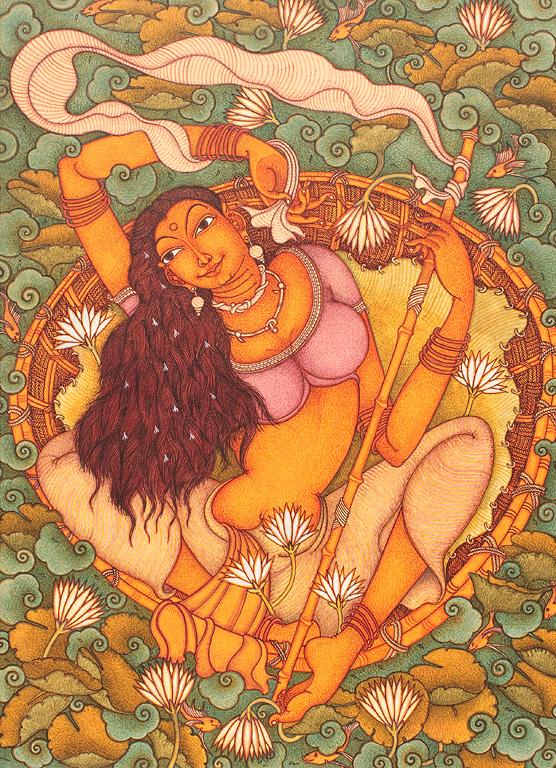 Manikandan punnakkal untitled kerala lyricism storyltd for Asha ramachandran mural painting