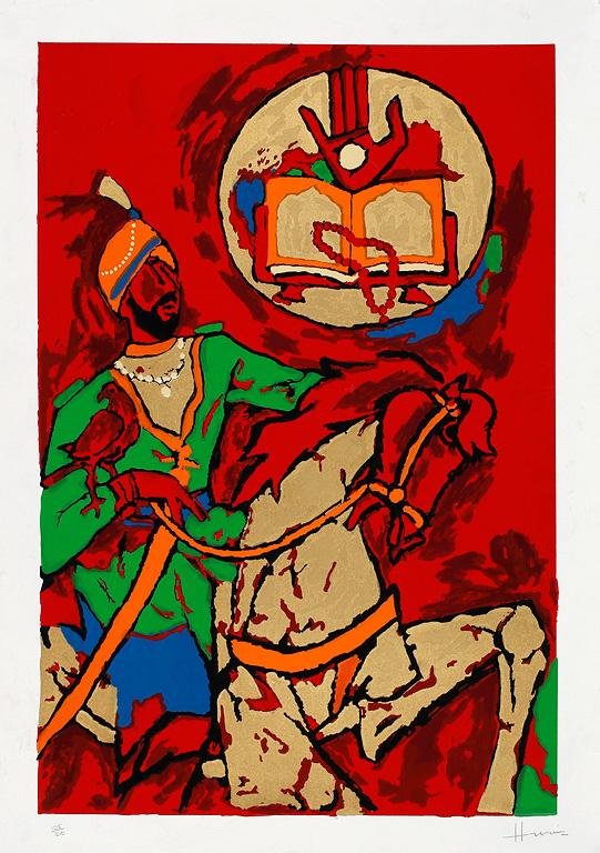 M F Husain - Hanuman (Kite Series) @ Limited Editions