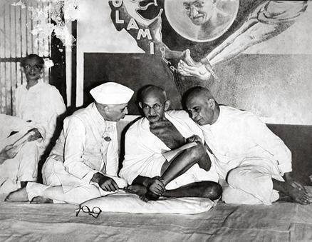Pandit Jawaharlal Nehru, Mahatma Gandhi and Sardar Patel, 1946
