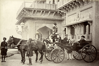 Maharaja Scindia, Colonel Robertson, and a Father